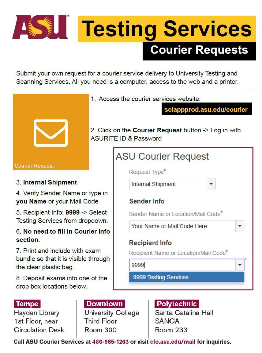 Courier Form Instructions 2020