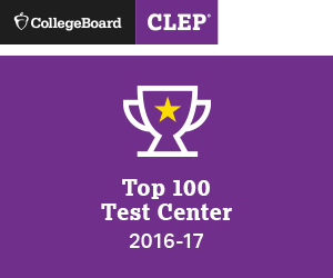 CollegeBoard CLEP Recognition as Top 100 Test Center for 2016-2017